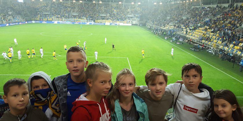 Klasa sportowa na meczu Arki Gdynia.