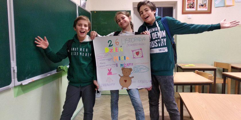 26 listopada – Dzień Misia i Piżamy