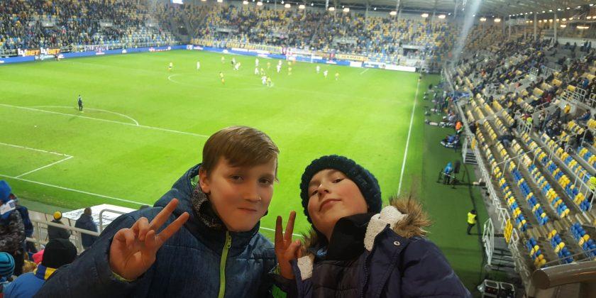 Klasa sportowa na meczu Arka – Cracovia