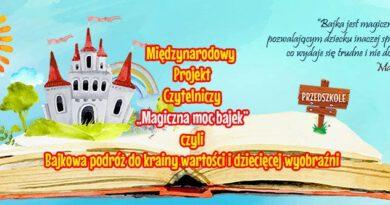 """Międzynarodowego  projektu """"Magiczna moc bajek"""" ciąg dalszy…."""